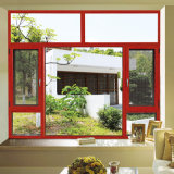 Fenêtre en aluminium de bois massif solide / bois de cerisier Moyen-Orient (FT-W108)