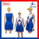 Надевайте индивидуальные Cheerleading сублимации красителей спорта девочек платье