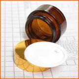 Bouteille de verre ambré de gros de cosmétique