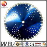 Soldado de la hoja de sierra de diamante segmentado de Turbo para corte de cerámica