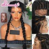 Perucas cheias brasileiras do laço de Glueless do cabelo humano do Virgin com cabelo do bebê
