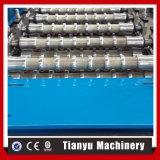 La feuille ondulée de toiture de couleur en métal laminent à froid former la machine