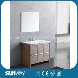 Горячая продажа меламина Мебель в ванной комнате с кабинетом Sw-Ml1307 наружного зеркала заднего вида
