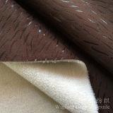 Bronzare il tessuto di cuoio 100% del poliestere della pelle scamosciata per la casa