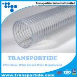Máxima mangueira de PVC de Transportide Quatity com fio metálico reforçada