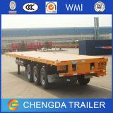 3 차축 20FT 40FT 콘테이너 수송 평상형 트레일러 트레일러
