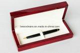 Hoge het rozehout polijst Vakje van de Pen van de Gift van de Verpakking en van de Vertoning van de Presentatie van de Opslag van de Afwerking het Houten/Geval