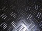 Checker lámina de goma, alfombrilla de goma, corrector ortográfico pisos con alfombra de color negro.
