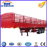 Reboques de caminhões de estaca de engenho e gado de três eixos
