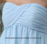軽くて柔らかく短い新婦付添人の服の結婚披露宴はローブのプロムのガウンに服を着せる