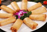 Surgelés IQF 100 % de légumes fait main 20g/pièce rectangle plat des rouleaux de printemps
