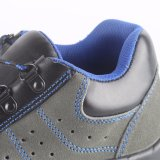 Fábrica de zapatos de acero de seguridad de la punta del cuero genuino RS6162