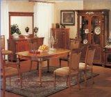 Hotel móveis/sala de jantar de luxo conjuntos de móveis/restaurante de estilo europeu conjuntos de móveis/folha Golded jogos de jantar (GLD-051)