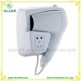 Alumínio para cabelo com secador de cabelo montado na parede 1800W com sensor