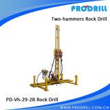 Broca de rocha móvel pneumática para perfuração vertical e horizontal