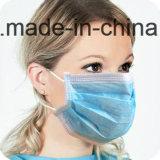 Capa no tejida quirúrgica disponible Earloop/PP 20GSM +Filter (externo) 23GSM de papel (MEDIADOS DE) +PP 25GSM de la mascarilla 3 (interna)