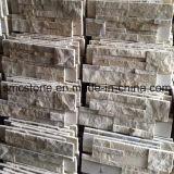 18*35cmの熱い販売の中国の黄色く白い珪岩の石塀のクラッディング