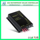 Regolatore impermeabile del caricatore di energia solare del sistema 12/24V 20A dell'indicatore luminoso di via (QW-SR-SL2420)