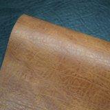 袋のための浮彫りにされた木次元PVCスポンジ革によって薄板にされるファブリック