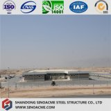 Estructura de acero Span varios Taller con parapeto