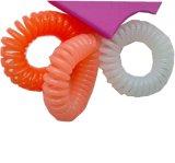 4PCS in een Plastic Parel van het Pak kijk het Koord Hairbands van de Telefoon