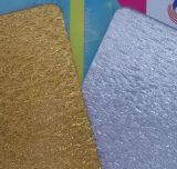銀およびGolden Cloth Fabric Acrylic Sheets