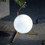 Estilo da bola Design moderno Decoração Lâmpada de mesa de vidro para sala de estar