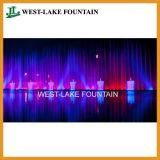 Fontana musicale di Dancing della proiezione del laser della cortina d'acqua in Ucraina