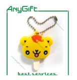 PVC Keyring di 3D Soft con Customized Shape e Logo
