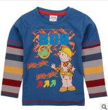 La plus récente du commerce extérieur coton dans l'printemps et automne hiver bande de garçon Support de manchon col rond T-Shirt à manches longues