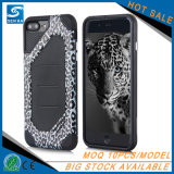 iPhone 7을%s 깨지지 않는 잡종 형식 표범 인쇄 전화 상자