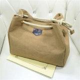 Più nuova tendenza del sacchetto di acquisto del sacchetto della tela di canapa dei sacchetti di spalla semplici di stile coreano (GB#2222)
