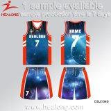 Healong ha personalizzato la pallacanestro Jersey di sublimazione di disegno degli abiti sportivi