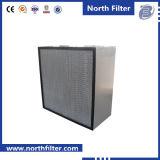 304 filtro inoxidável do frame de aço HEPA para a indústria química