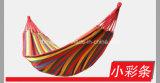 Im Freienfreizeit-Baumwollhängematten-kampierende Schlafenhängematte