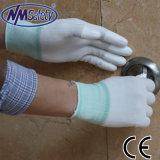 Перст PU Nmsafety белый окунул электронную точную перчатку работы руки