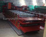 El panel del material para techos del metal rodillo de tres capas que forma la máquina