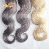 Tessitura dei capelli di colore chiaro di colore di Ombre di tono dei capelli due di Remy del vietnamita di 100%