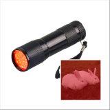 Alliage d'aluminium professionnel 9 LED rouge Camping en plein air à l'aide de lumière LED lampe de poche de chasse
