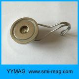 Gancho magnético rotativo de neodímio ímãs de geladeira com gancho