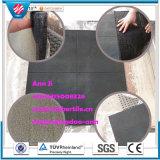 Gymnastik-Bodenbelag-Matte aufbereiteter Gummifliese-Gleitschutzgummifußboden