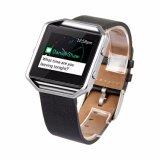 Retro blocco per grafici di cuoio del metallo del braccialetto della cinghia di manopola del cinturino per la fiammata di Fitbit