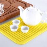 Silikon-Küchenbedarf-füllt heißer Potenziometer-Gummihalter Cup Placemat Tisch-Matte auf