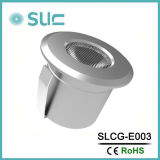 1W luz redonda del acero inoxidable LED Downlight (SLCG-E003)