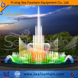 Красочный Stainles фонтан пруд с подсветкой