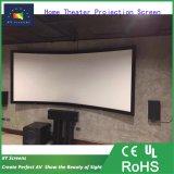 """120"""" акустического экрана проектора с передней стороны трансмиссии/ изогнутые проекционные экраны с черной бархатной рамы для домашнего кинотеатра"""