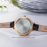 Ремешок из натуральной кожи для изготовителей оборудования дамы кварцевые часы, Wist Леди смотреть (WY-17032)
