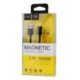 cable trenzado de nylon del USB del teléfono móvil de la succión 2.1A para el iPhone