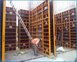 De modulaire Bekisting van het Frame van het Staal van het Triplex van de Muur Concrete