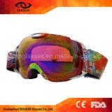 La meilleure lentille sphérique UV400 d'enduit avec des lunettes de neige de ski en verre d'ordonnance pour les hommes et des femmes